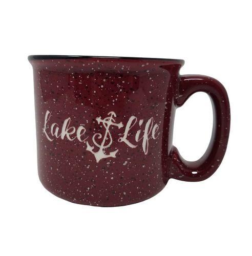 Lake Life Ceramic Coffee Mug - Red