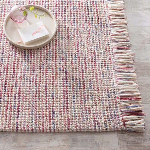 Lanka Pink Woven Wool Rug