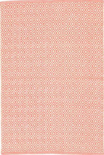 Lattice Coral Woven Cotton Rug<font color=a8bb35> 20% off</font>