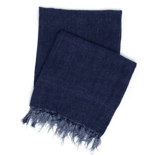 Laundered Linen Indigo Throw