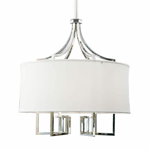 Le Chic Chandelier in Polished Nickel