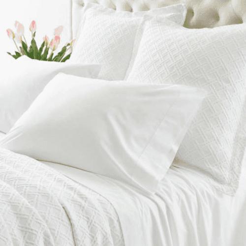 Lia White Pillowcases
