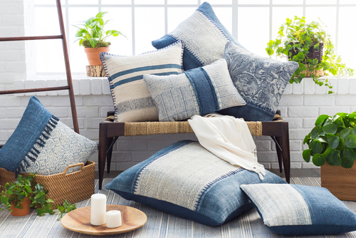 Lola Geometric Pillow in Two Sizes