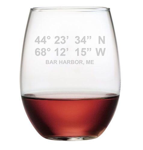 Set of 4 Longitude & Latitude Glassware - 4 Glass Options