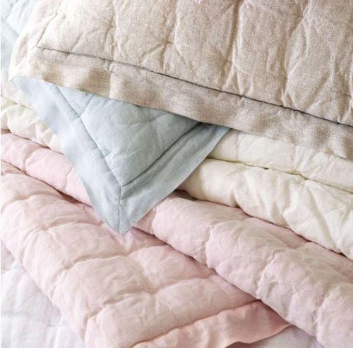 Lush Linen Natural Puff Quilt