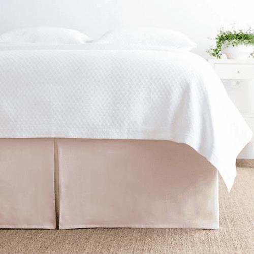 Lush Linen Slipper Pink Bed Skirt