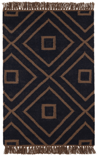 Mali Black Indoor/Outdoor Rug