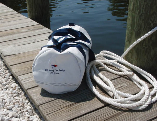 Newport Medium Sailcloth Round Duffel Bag in Two Colors