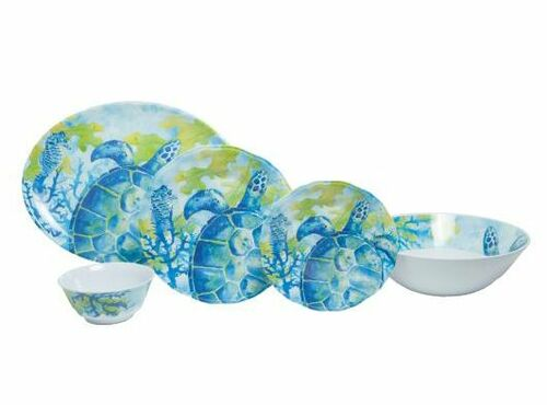 Sea Turtle Melamine Dinner Set with Platter