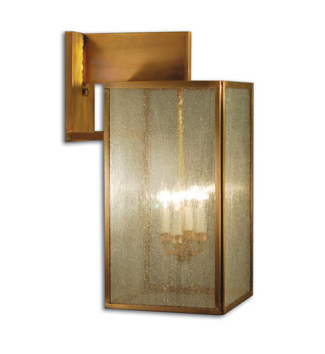 Midtown 4-Light Wall Mount Fixture with Seedy Marine Glass