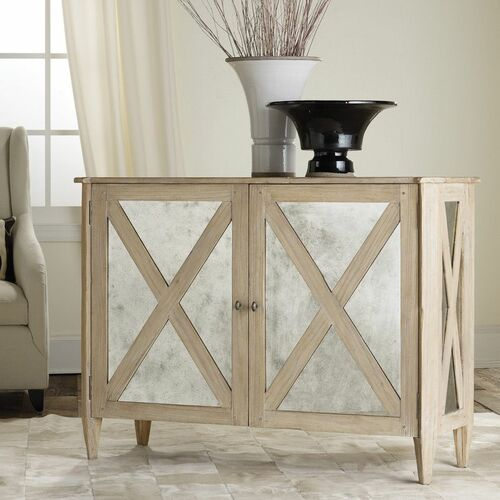 Mirrored Two Door Cabinet in Two Color Options