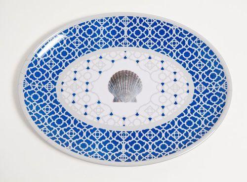 Moroccan Shell Melamine Dinner Set