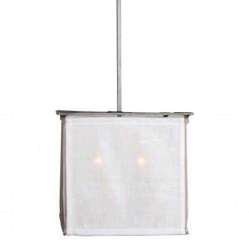 Myrtle Island Burlap Box Pendant Light
