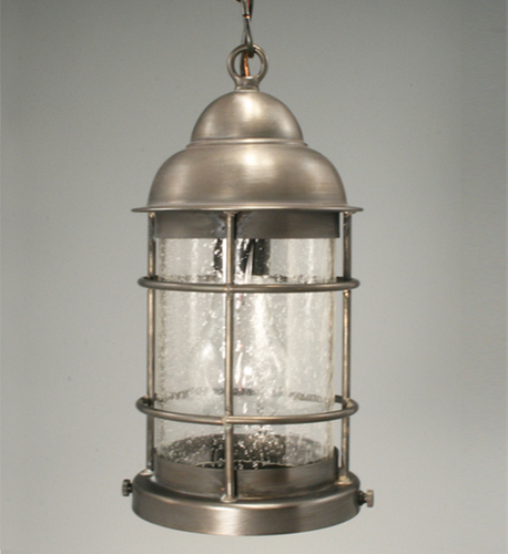 Nautical Hanging Light Fixture with Clear Seedy Glass