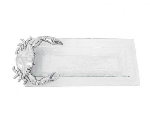 Oblong Crab Glass Tray
