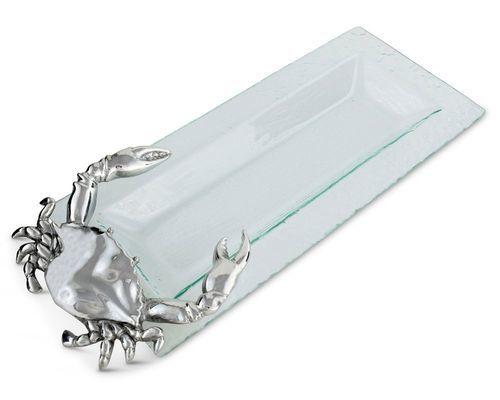 Oblong Crab Glass Tray *Backorder