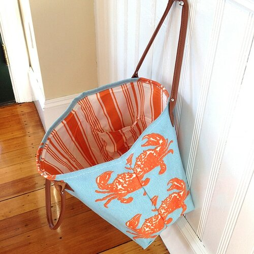 Orange Crab Beach Tote