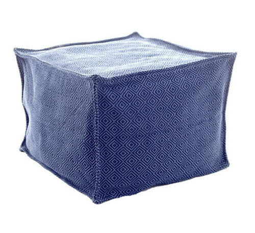 Petit Diamond Navy/Denim Indoor/Outdoor Pouf 20% OFF