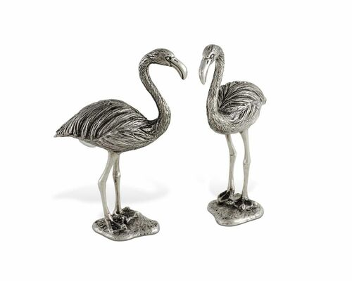 Pewter Flamingo Salt & Pepper Set