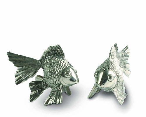 Pewter Goldfish Salt & Pepper Set