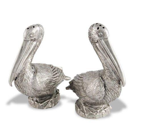 Pewter Pelicans Salt & Pepper Set