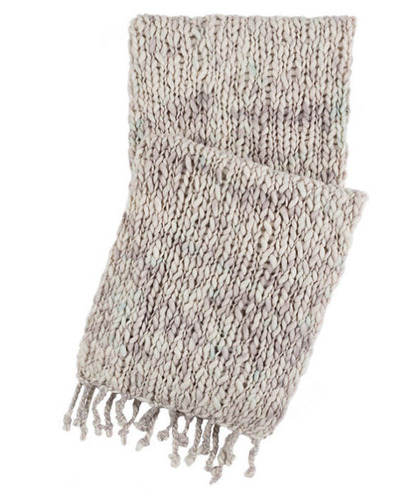 Chunky Knit Grey Throw