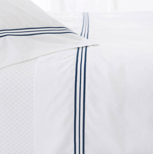 Trio Indigo Flat Sheet <font color=a8bb35> 20% OFF</font>