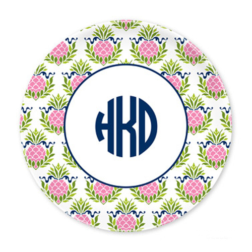Pineapple Pink Plates - Set of Four