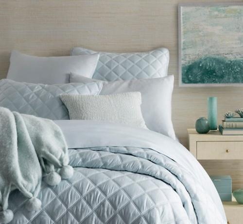 Pom Pom Robin's Egg Blue Throw