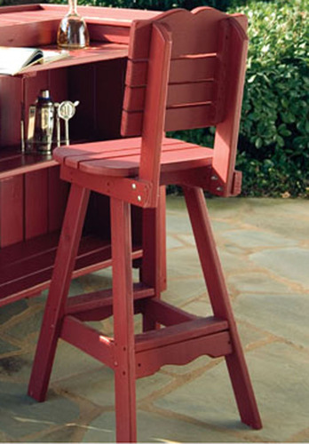 Portland Outdoor Bar Stool with Back