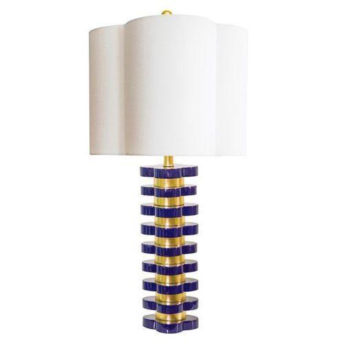 Quatrefoil Lamp in Indigo Blue<font color=a8bb35> Low Stock</font>
