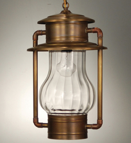 Railroad Hanging Lantern with Optic Glass <font color=a8bb25> Sold Out</font>