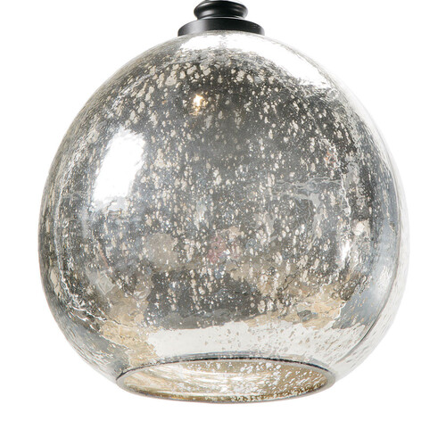 Glass Float Pendant Light - Recycled or Antique Mercury