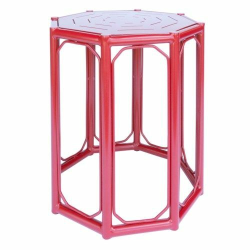 Regeant 4-Season Side Table in Antique Red <font color=a8bb35>NEW</font>