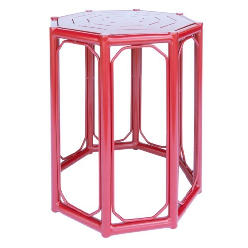 Regeant Accent Table in Antique Red