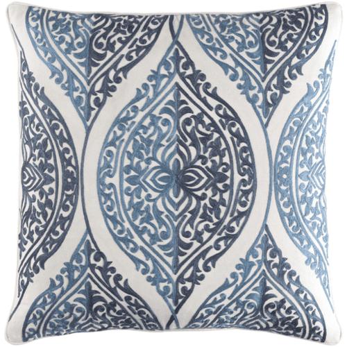 Regina Embroidered Pillow Blue Denim<font color=a8bb35> Limited Stock</font>