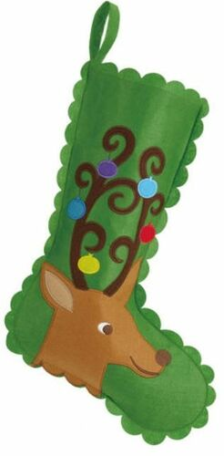Reindeer Felt Christmas Stocking<font color =a8bb35> Sold out</font>