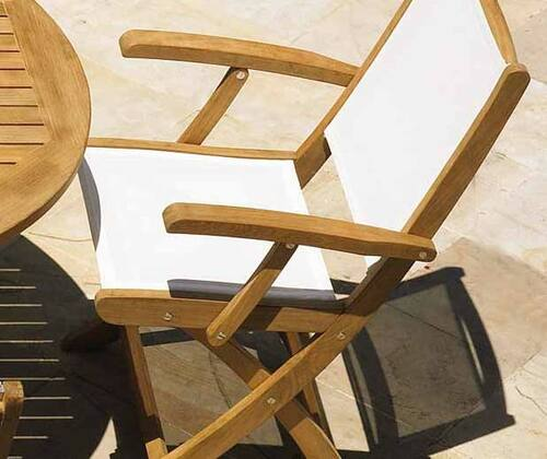 Riviera Folding Arm Chair in Two Colors