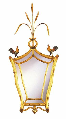 Roosters With Wheat Mirror