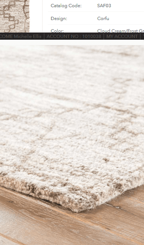 Safi Frost Gray Hand Tufted Rug