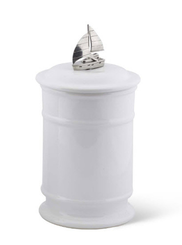 Sailboat Stoneware Canister  *Backorder