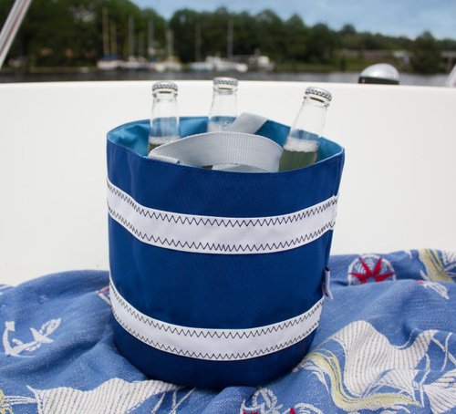 Nautical Stripe Sailor Cloth Bucket Bag