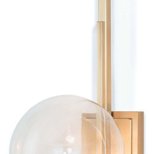 Saturn Natural Brass Sconce