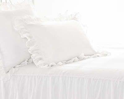 Savannah Linen Gauze Ivory or White Sham