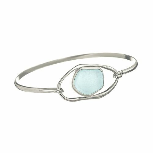 Sea Glass Bracelet with Lagoon Loop <font color=a8bb35> Sold Out</font>