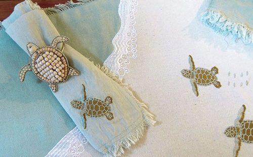 Sea Turtle Napkin Rings Set of 4<font color=a8bb35> Backorder</font>