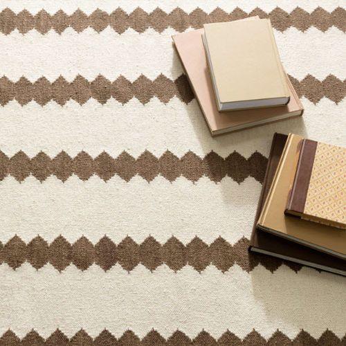 Senna Ivory/Camel Woven Wool Rug