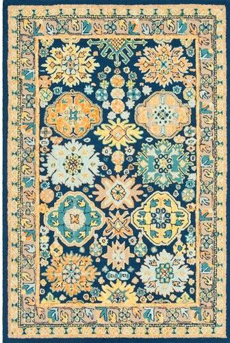 Serafina Dark Blue Hand Tufted Rug