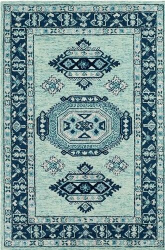 Serafina Ice Blue Hand Tufted Rug