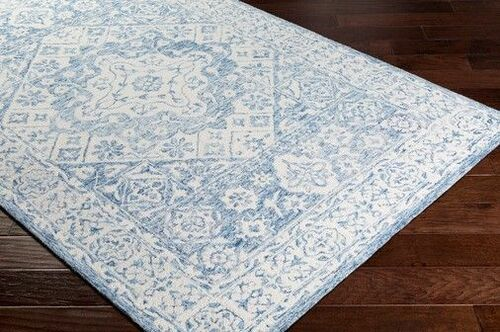 Serafina Pale Blue Hand Tufted Rug